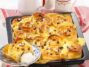 Pudding-Schneckenkuchen Rezept