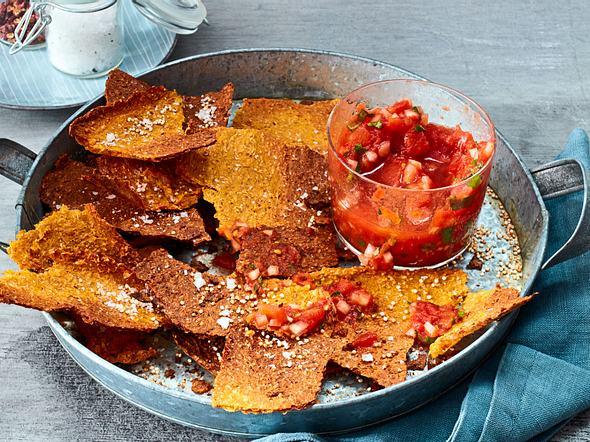 Punch-&-Crunch-Cracker mit Tomaten-Salsa Rezept