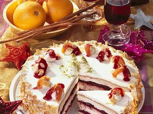 Punsch-Torte mit Rum-Früchten Rezept