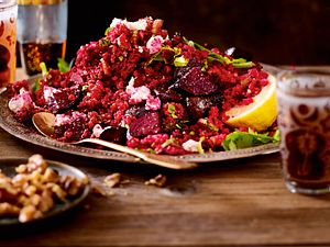 Purpurner Feta-Bulgur-Salat Rezept