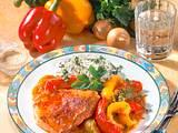 Puszta-Schnitzel mit Paprika Rezept