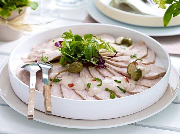 Puten-Carpaccio mit Thunfischcreme Rezept