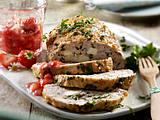 Puten-Hackbraten mit Petersilie und Erdbeer-Salsa Rezept