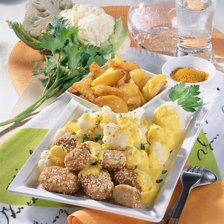 Puten-Nuggets mit Sesamkruste Rezept
