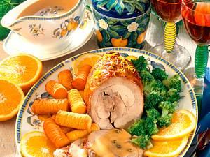 Puten-Orangenbraten mit Broccoli Rezept