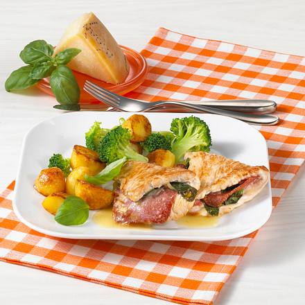 Puten-Saltimbocca mit Broccoli Rezept
