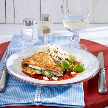 Puten-Saltimbocca mit Feta Rezept