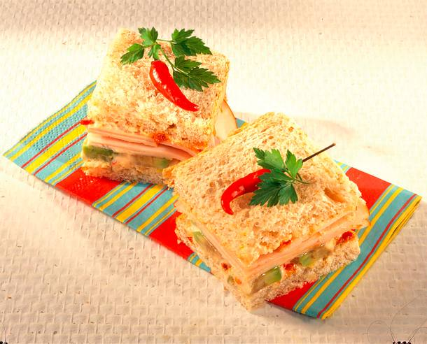Puten-Sandwich mit Avocado Rezept