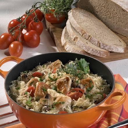 Puten-Sauerkraut-Pfanne Rezept