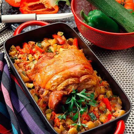 Putenbraten mit provenzalischem Gemüse Rezept