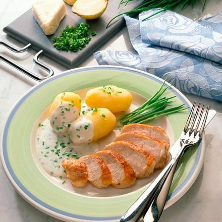 Putenbrust mit Käsesoße Rezept