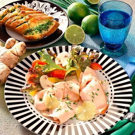 Putencarpaccio mit Limetten-Ingwer-Marinade Rezept