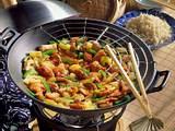 Putenfleisch süß-sauer im Wok gekocht Rezept