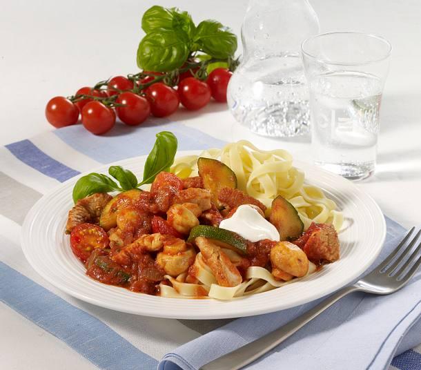 Putengeschnetzeltes in Tomatensoße Rezept