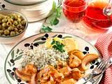 Putengulasch mit Kräuterreis Rezept