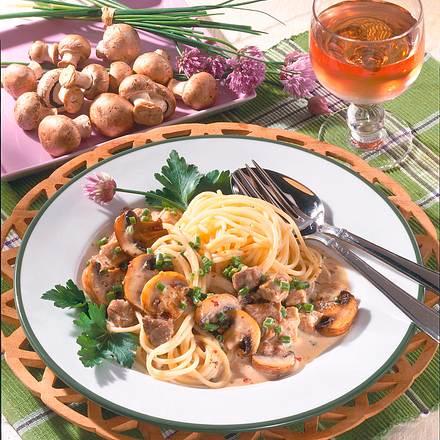 Putenragout mit Pilzen Rezept