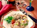 Putenragout mit Shiitake-Pilzen und Lauchzwiebeln Rezept