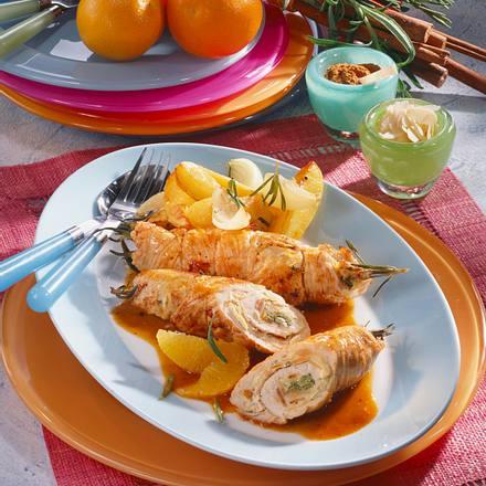 Putenröllchen in Orangensoße Rezept