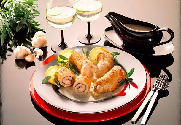 Putenröllchen mit Parmaschinken Rezept