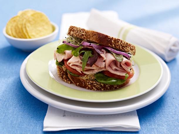 Putensandwich mit Gemüse Rezept