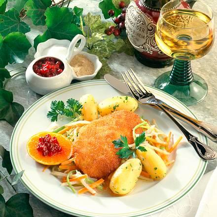 Putenschnitzel auf Gemüse Rezept