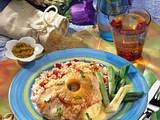 Putenschnitzel Hawaii mit Erdnussreis Rezept
