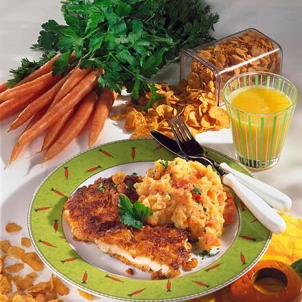 Putenschnitzel in Cornflakes-Hülle Rezept