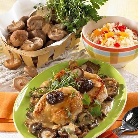 Putenschnitzel in Pilz-Rahm Rezept