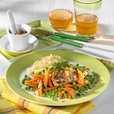Putenschnitzel in Senfpanade Rezept