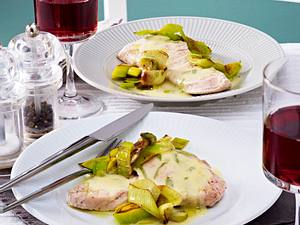 Putenschnitzel in Zitronen-Eisenkraut-Butter Rezept