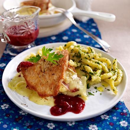 Putenschnitzel à la Cordon bleu Rezept