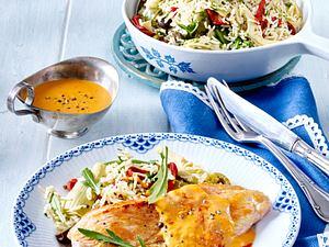 Putenschnitzel mit Blitz-Reispfanne Rezept