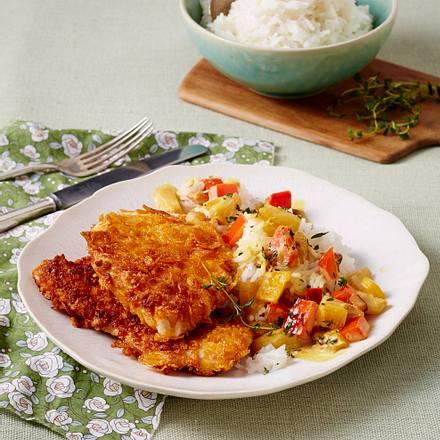 Putenschnitzel mit fruchtiger Paprikasoße Rezept