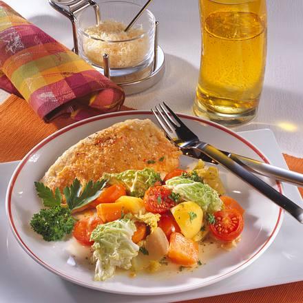 Putenschnitzel mit Käsekruste Rezept