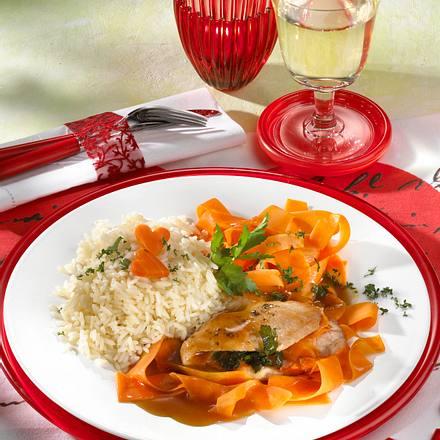 Putenschnitzel mit Möhren-Gemüse Rezept