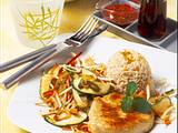 Putenschnitzel mit Reis und Asia-Gemüse (Diabetiker) Rezept