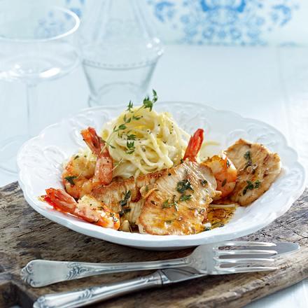 Putenschnitzel zu Zitronenspaghetti Rezept