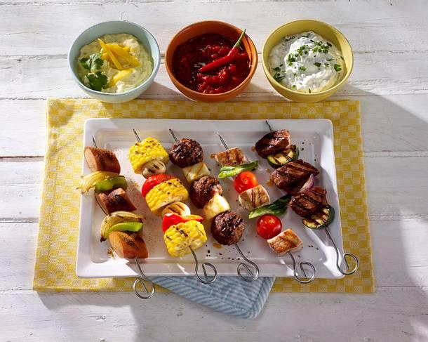 Putenspieße mit Kirschtomaten und Lauchzwiebeln Rezept