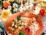 Putenspieße mit Zucchinigemüse Rezept