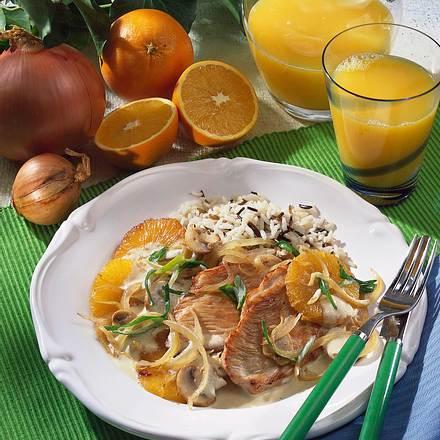 Putensteak in Orangen-Joghurtsoße Rezept