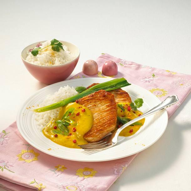 Putensteak mit Curry-Honig-Soße Rezept