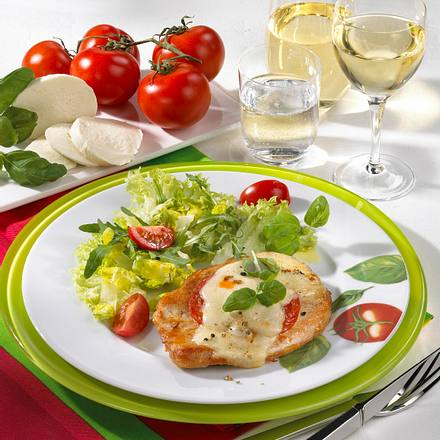 Putensteak mit Tomate & Mozzarella Rezept