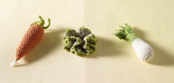Quark-Buletten-Gesicht auf Möhren-Kartoffel-Püree Rezept