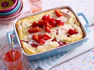 Quark-Grieß-Auflauf mit Erdbeeren Rezept
