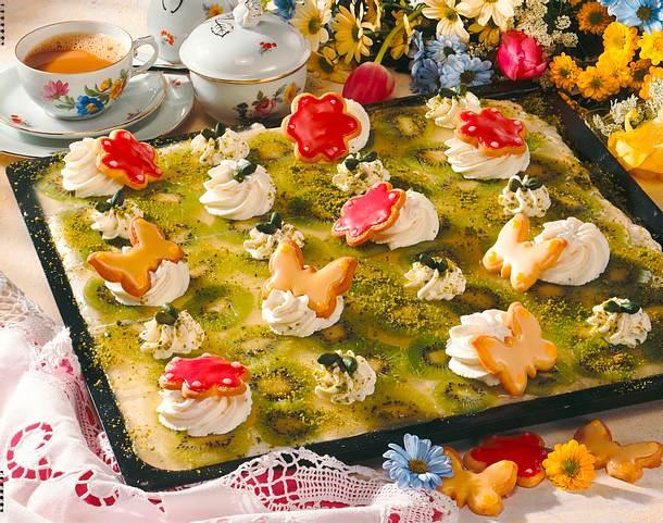Quark-Kiwi-Kuchen Rezept