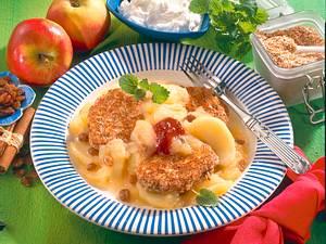 Quark-Püfferchen mit Apfelkompott Rezept