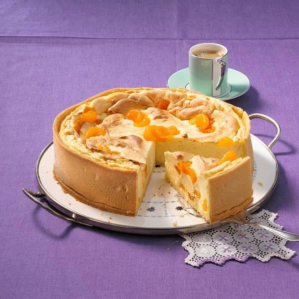 Quark-Soufflé-Torte mit Mandarinen Rezept