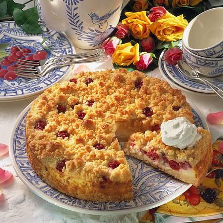 Quark-Streuselkuchen mit Kirschen (Diabetiker) Rezept