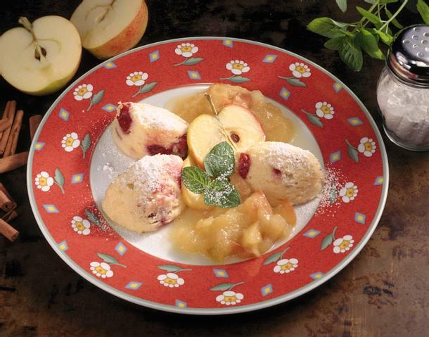 Quarkauflauf mit Apfelkompott Rezept