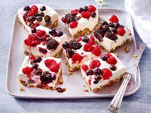 Quarkkuchen mit gemischten Beeren Rezept